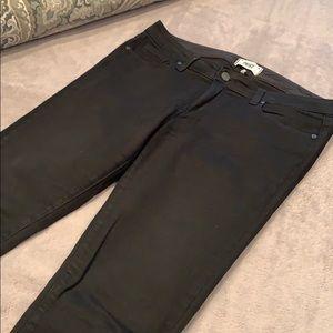 Paige black ankle peg jean